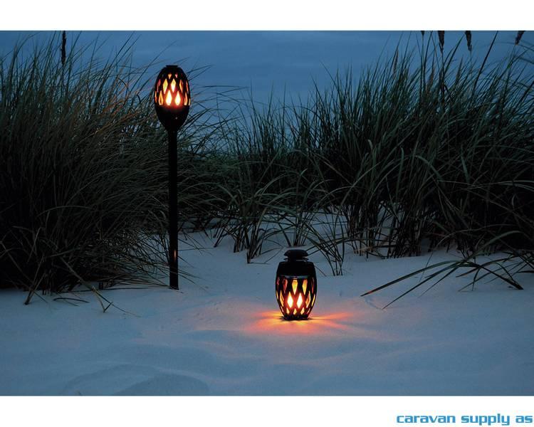 Lampe Apollo flammelampe LED svart